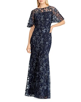 Ralph Lauren - Metallic Embroidered Gown