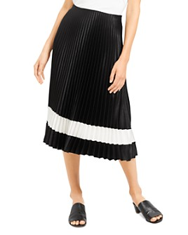 Theory - Pleated Color-Block Skirt