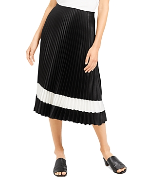 Theory Pleated Color-Block Skirt