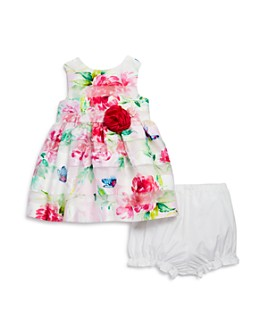 Pippa & Julie - Girls' Floral Print Dress & Bloomers Set - Baby