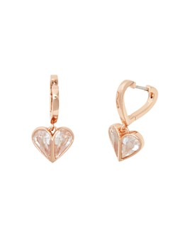kate spade new york - Rock Solid Stone Heart Huggie Hoop Earrings