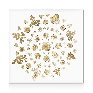 Oliver Gal Gold Flower Mandala Wall Art, 24 x 24