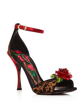 Dolce & Gabbana - Women's Rose High-Heel Sandals