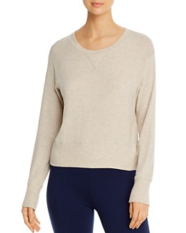 Three Dots - Brushed Long-Sleeve Heathered Top