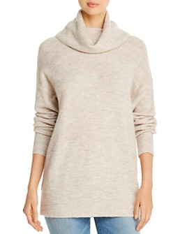 Marled - Cowl Neck Ribbed Knit Tunic