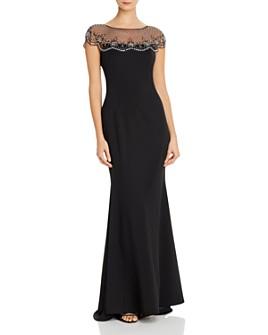 Eliza J - Embellished Crepe Gown