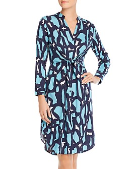 NIC and ZOE - Vivid Giraffe Tie-Waist Shirt Dress