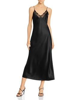 Anine Bing - Katy Silk-Satin Midi Slip Dress