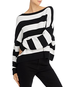 FRENCH CONNECTION - Mozart Stripe Cotton Boat-Neck Sweater
