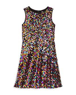 US Angels - Girls' Sequined Sleeveless Dress - Big Kid