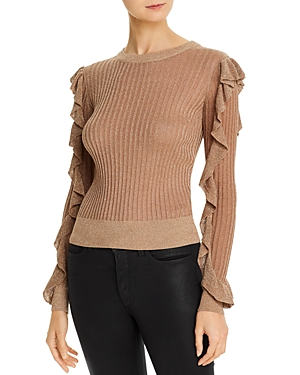 Joie Beza Metallic Rib-Knit Sweater-Women