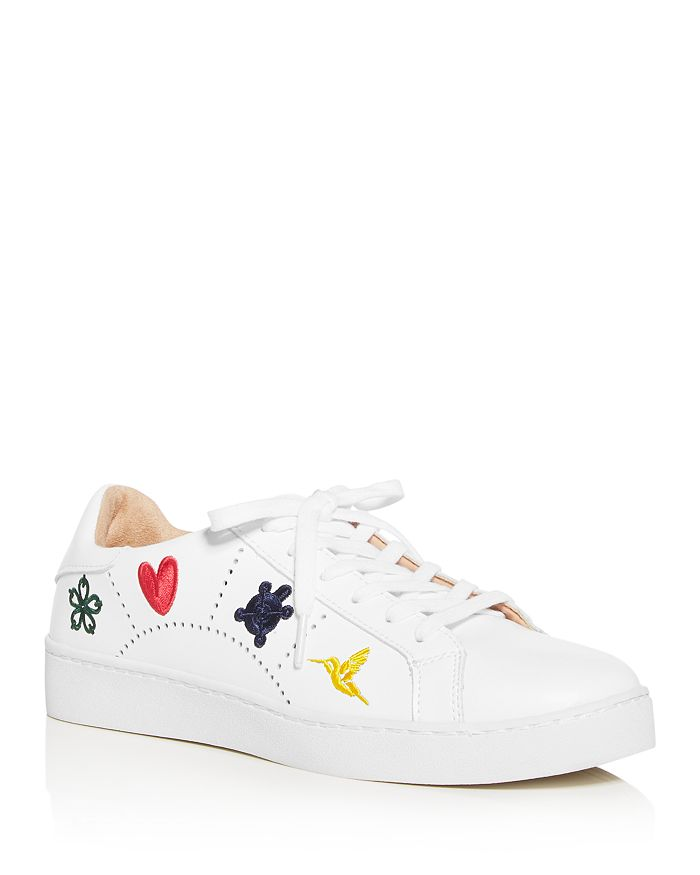 Jack Rogers - Women's Kennedy Embroidered Leather Sneakers