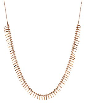 """Kismet By Milka - 14K Rose Gold Seed Tassel Necklace, 18"""""""