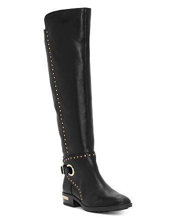 VINCE CAMUTO - Women's Poppidal Studded Low-Heel Boots