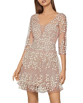 BCBGMAXAZRIA - Floral-Appliqué Dress