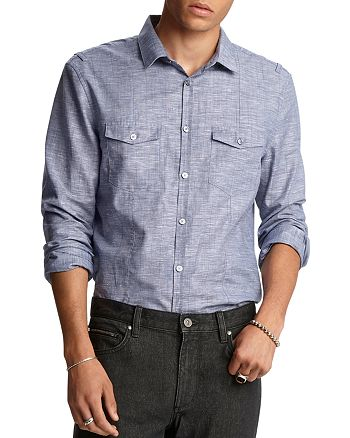 John Varvatos Collection - Slim Fit Military Sport Shirt
