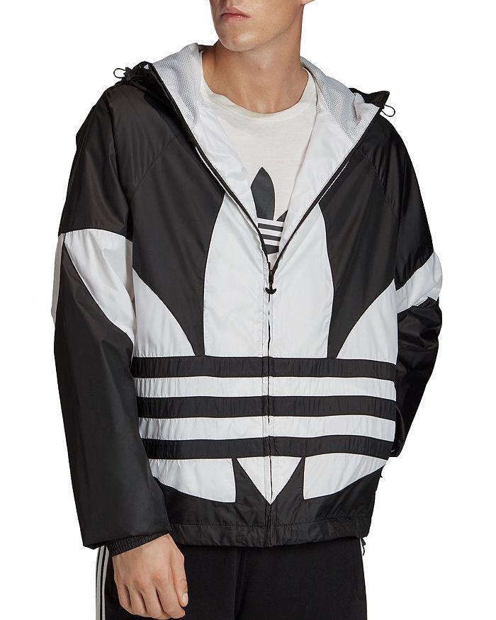adidas Originals - Big Trefoil Color-Block Regular Fit Wind-Breaker Jacket
