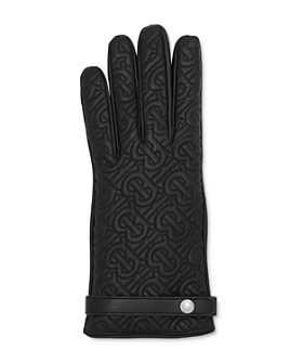Burberry - Quilted Monogram Leather Gloves