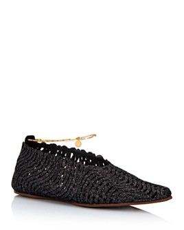 Stella McCartney - Women's Woven Square-Toe Flats