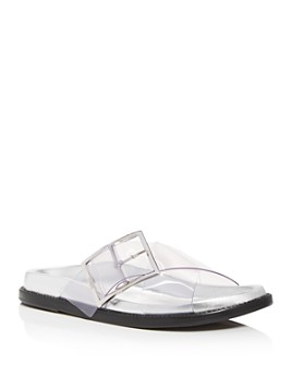 SCHUTZ - Women's Trina Criss-Cross Slide Sandals