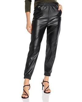 AQUA - Faux Leather Jogger Pants - 100% Exclusive