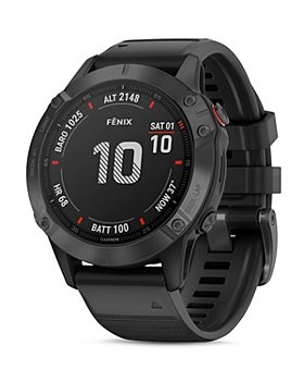 Garmin - Fenix 6 Black Silicone Strap Smartwatch, 47mm