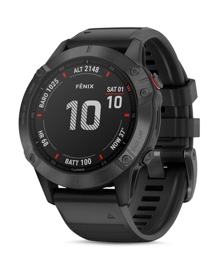 Garmin Fenix 6 Black Silicone Strap Smartwatch, 47mm    Bloomingdale's