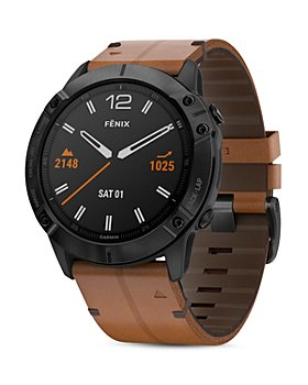 Garmin - Fenix 6X Chestnut Leather Strap Smartwatch, 51mm