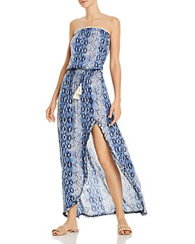 Surf Gypsy - Snakeskin-Print Maxi Dress Swim Cover-Up