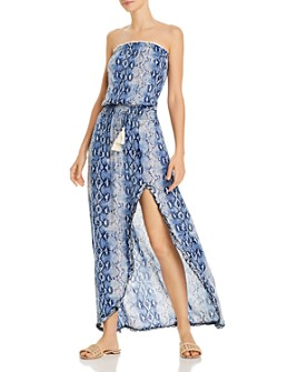 Surf Gypsy - Snakeskin-Print Maxi Dress Swim Cover-Up