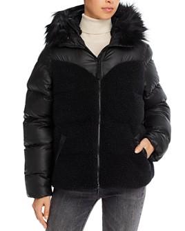 Hunter - Faux Fur-Trim Hybrid Puffer Coat