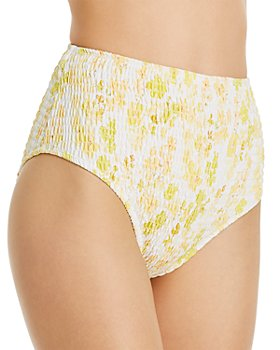 Charlie Holiday - Cabo Smocked Brief Bikini Bottom