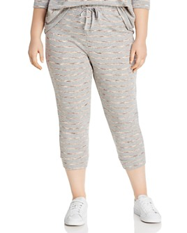 B Collection by Bobeau Curvy - Cropped French Terry Jogger Pants
