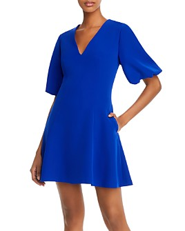 MILLY - Bubble-Sleeve Fit and Flare Dress
