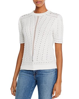 See by Chloé - Mixed-Knit Short Sleeve Top