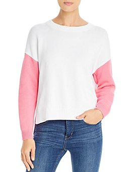 525 - Color-Blocked Split Back Sweater