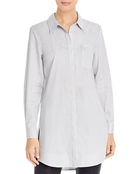 Marled - Striped Button-Down Tunic