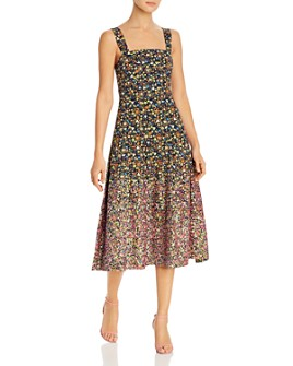 Tory Burch - Floral Sequined Midi Dress