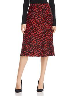 Alice and Olivia - Sula Leopard Print Silk Slip Skirt