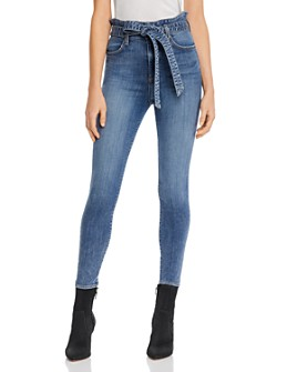 Alice and Olivia - Good Paperbag-Waist Skinny Jeans in Naughty But Nice