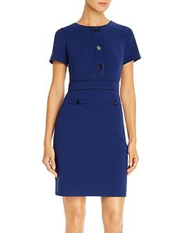 KARL LAGERFELD PARIS - Button-Front Sheath Dress