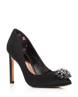 Ted Baker - Women's Brydien Brooch-Embellished Pointed-Toe Pumps