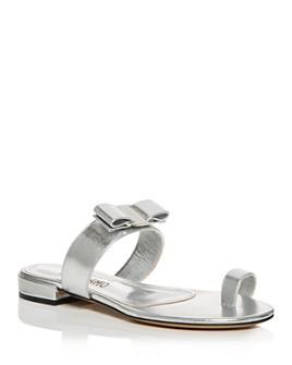 Salvatore Ferragamo - Women's Louisa Toe Ring Slide Sandals