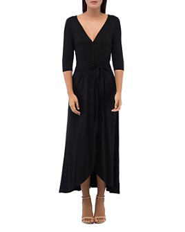 B Collection by Bobeau - Lea Tie-Waist Faux Wrap Dress