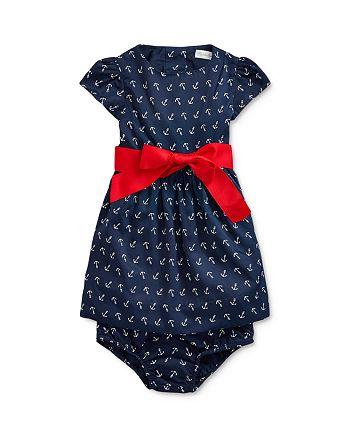 Ralph Lauren - Girls' Anchor Print Dress & Bloomers Set - Baby