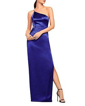 Aidan by Aidan Mattox - One-Shoulder Satin Gown