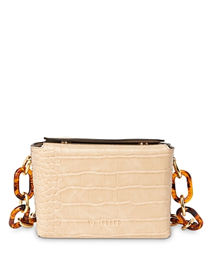 Whistles Bay Mini Croc-Embossed Shoulder Bag