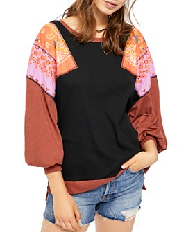 Free People - Feelin' It Balloon-Sleeve Tee