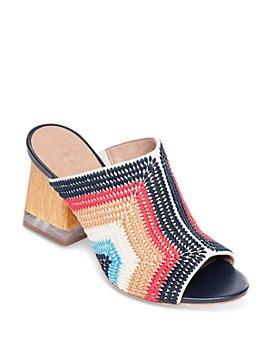 Bernardo - Women's Nala Embroidered Block Heel Mules