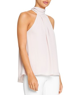 HALSTON - Mock-Neck Top